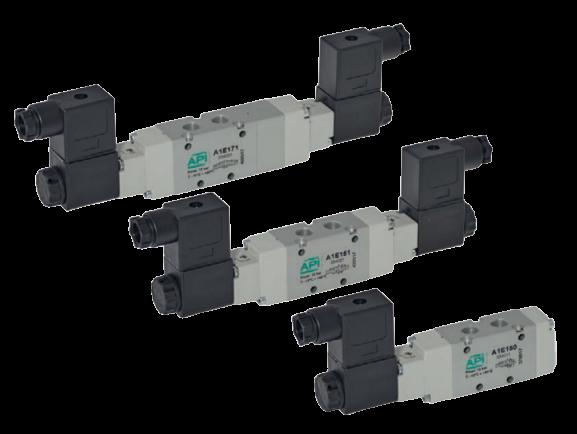 Elektrisch bediende ventielen serie A1E1 en A1K1