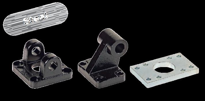Montage accessoires staal voor ISO 15552 cilinders