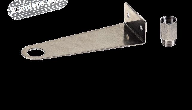 RVS montagebeugel met rvs koppeling