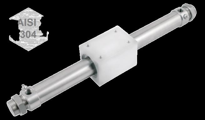 Zuigerstangloze RVS magneet cilinder