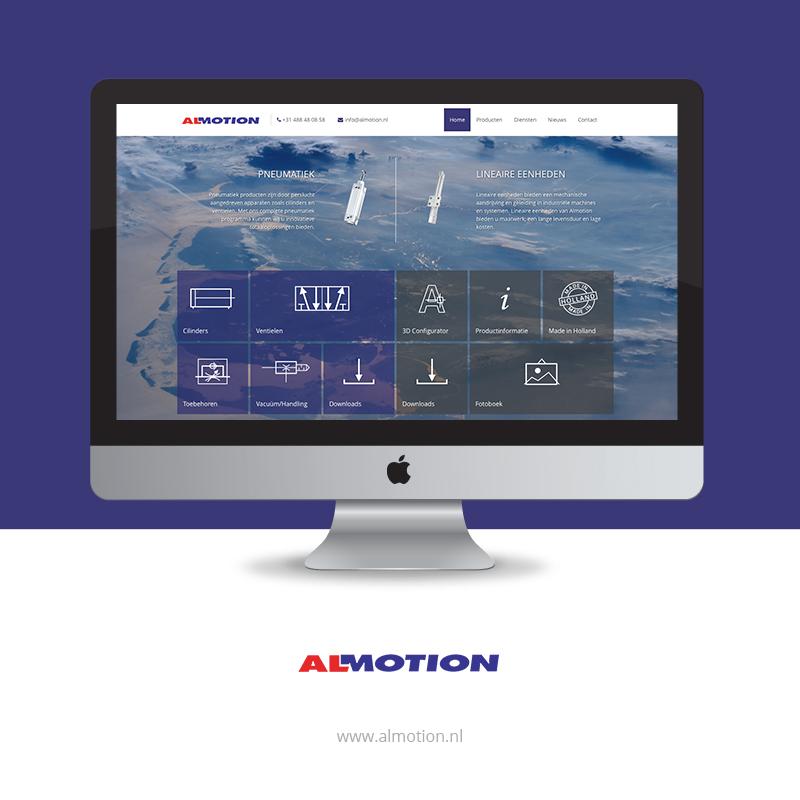 Nieuwe site Almotion, nu met 3D configurator