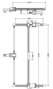 Lineair XY systeem met speciale slede