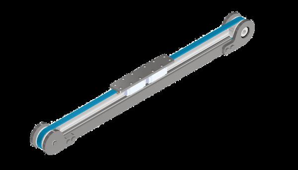 RVS lineair met 2 loopwagens