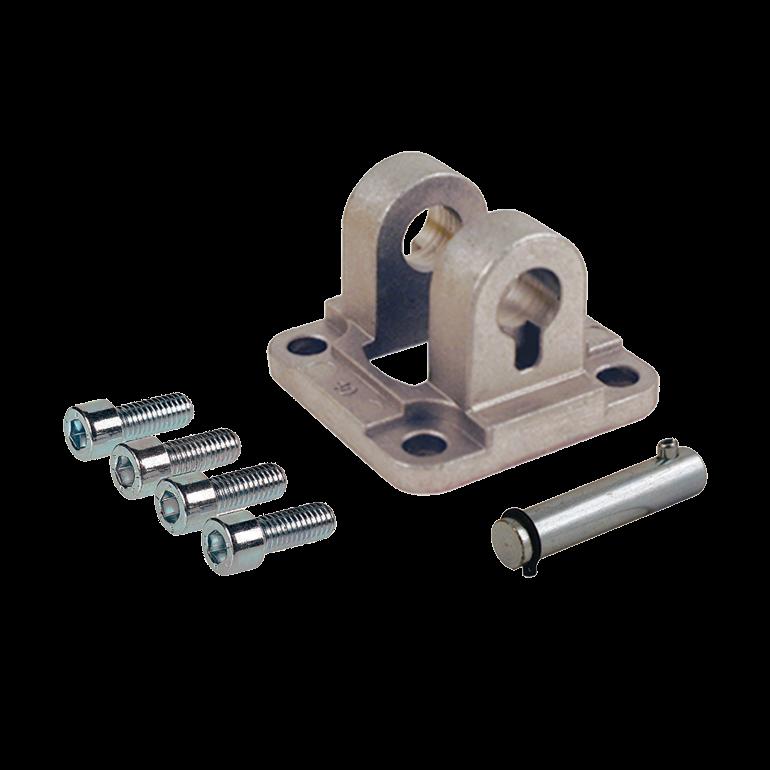 Achterscharnier smal ISO 15552 cilinders