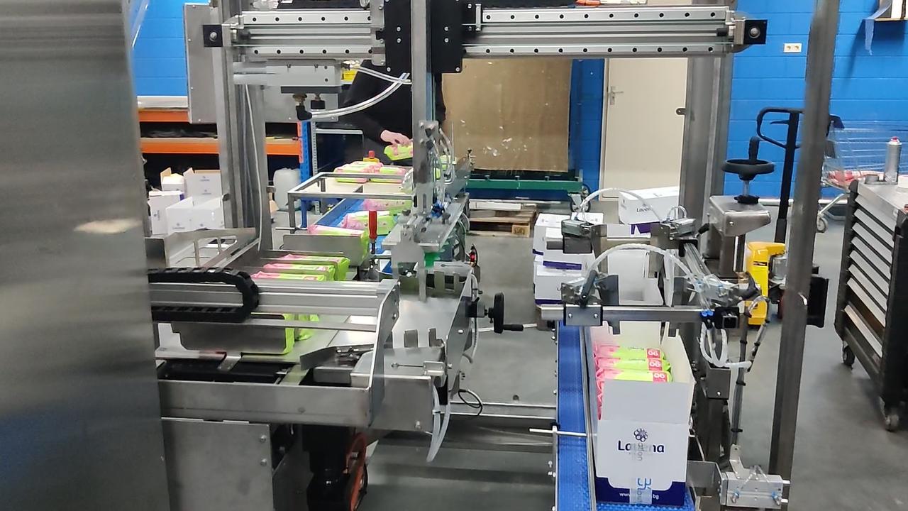 Gantry lineaire unit in verpakkingsmachine